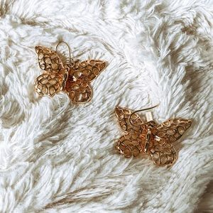 "coach signature ""c"" butterfly earrings"